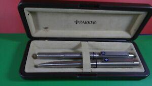 Parker 25 S/S Flighter pen set .Boxed.