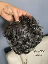 100% Human Hair Clip In Topper Toupee Wavy Bangs Hair Integration