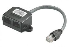 goobay rj45 cat.5e 1:1 doppler verteiler splitter 10/100 netzwerk lan Y adapter