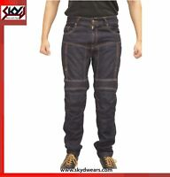 Motorcycle denim Jeans Reinforced With DuPont™ Kevlar® Fabric.
