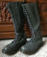 Dr Martens Tall Boots Mens 8 Womens 10  GRAY! RARE!