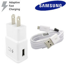 OEM Samsung Galaxy S6 S7 Note4 5 Fast Charging Dual USB Car & Wall Charger+Cable