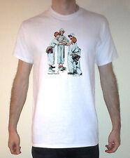 Norman Rockwell Baseball Sporting Boys Graphic Short Sleeve Tee Shirt Sizes S-XL
