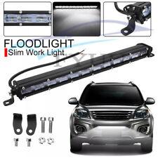1 Pc IP68 13'' 9D Flood Beam 1-Row Slim LED Car SUV Work Light Bar 120W 12000LM