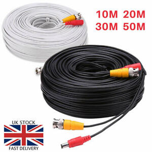 BNC Cable CCTV Data Video DC Power Lead Wire Security Camera DVR Extension Cable