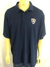 FLORIDA PANTHERS POLO SHIRT SS Mens 3XL Navy Blue NHL Hockey Embroidered Logo