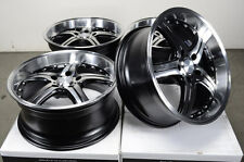 18 5x112 Rims Polished Lip Fits Deep Dish Mercedes S500 S430 S350 Alloy Wheels