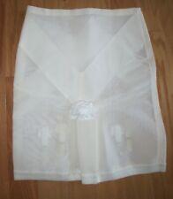 NWOT UNDERSCORE WHITE LONG LEG garters split gusset extra firm girdle  XL USA