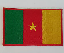 Cameroon Flag Embroidered Sew/Iron On Patch Patches