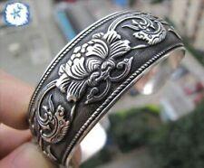 2019 New Tibetan Tibet silver Totem Bangle Cuff Adjustable Bracelet T889