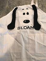 Pottery Barn Kids Peanuts Thanksgiving Snoopy Apron Monogram Sloane