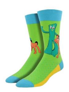 Socksmith - Gumby & Pokey Men's Crew Socks - MNC874-LIM