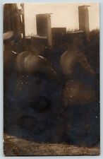 RPPC Real Photo World War I WWI Era Trench Officers using Periscope Postcard D4