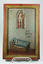 """EX VOTO, auf Holz """"Jesus in Ketten"""" Votivbild, dat.1839 (663)"""