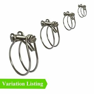 Double Wire Hose Clamps / Two Wire Clips / Radiator Inlet Breather Classic Cars