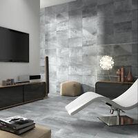 10x10cm Sample - 50x27cm Matt Grey Ceramic Bathroom/Kitchen Wall and Floor Tiles