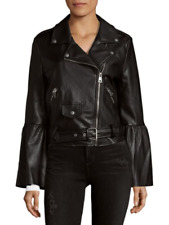 BAGATELLE MOTO JACKET ACCENTED W-BELL SLEEVES DESIGN NICE SZ SMALL RET $168 LOOK