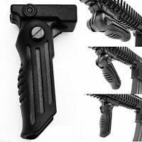 2 Position Hunting Foldable Front Grip Foregrip for Picatinny / Weaver Rail Type