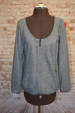 A408	WITCHERY GREY MARLE COTTON JACKET XS EC