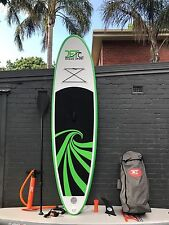 Super Strong Double Layer Inflatable Surfboard SUP 9' Stand Up Green