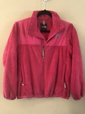 The North Face Girls Pink Full Zip Soft Fleece Jacket Size Large
