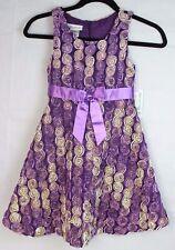 Bonnie Jean little girls party dress purple sleeveless flower size 6