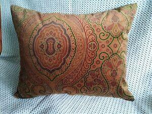 Terracotta velvet designer cushions