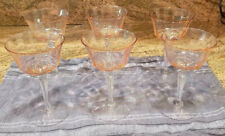 Pink Wine Glasses Set of 6