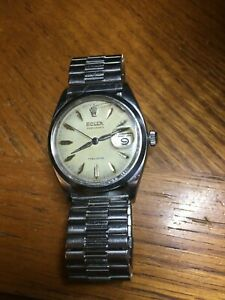 VINTAGE ROLEX OYSTERDATE PRECISION 6494 RED & BLACK ROULETTE DATE MEN'S WATCH