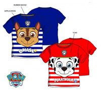 Boys Kids Official Paw Patrol Chase Or Marshall Short Sleeve T Tee Shirt Top