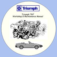 Triumph TR7 Workshop & Maintenance Manual