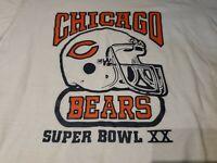 Vintage 80s Super Bowl 20 T-Shirt No size 19x25 inches Chicago Bears Patriots