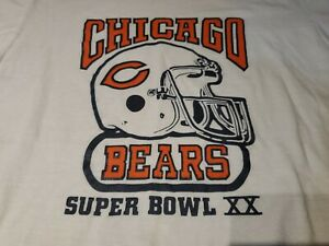 Vintage 80s Super Bowl 20 T-Shirt No size 19x25 inches Chicago Bears Patriots