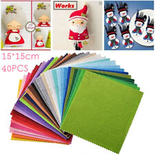 40PCS Assorted Color Wool Felt Fabric Sheets Patchwork Sewing DIY Craft 15*15cm