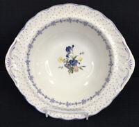 "Nikko Blue Peony Round Vegetable Serving Bowl 10"" Diameter Flowers Dots Japan"