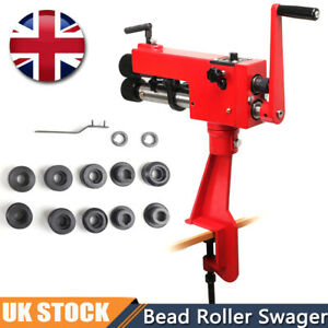 Bead Roller Former Swager Rotary Swaging Machine Bench Metal Sheet Clip Stand UK
