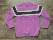 Vintage Arctic Cat Sweater Light Purple Stripe Large? Snowmobile Arctic Wear