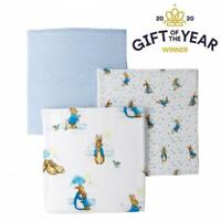 Beatrix Potter Peter Rabbit Muslin Square Multi-Purpose & Baby Essential, 3 Pack