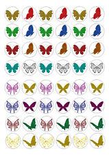 48 mini papillons 2 Cupcake Topper plaquette Riz Comestibles Fairy Cake Toppers
