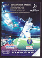 UEFA EUROPA LEAGUE 2012 Football PROGRAMME DYNAMO FC PORTO (Portugal) 4 TOURS