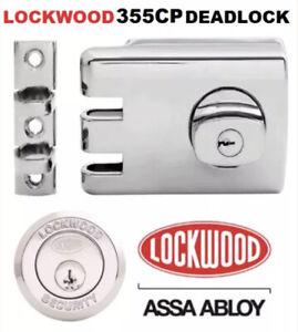 Lockwood 355 deadlock Brand new chrome plated lock deadbolt lock 355-NCPDP