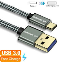 Short 0.5ft Braided (USB-C) USB 3.1 Type C FAST Charging & Data Sync Cable Cord