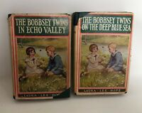 Lot 2 Vintage BOBBSEY TWINS Laura Lee Hope HB/DJ Deep Blue Sea Echo Valley