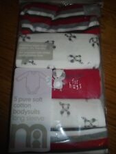 BNWT baby Mothercare long sleeve bodysuits/vests.Small/early/prem. 5lb.    (2/1)