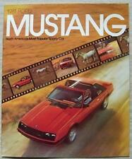 FORD MUSTANG Car Sales Brochure 1981 #9/80 North America COBRA Ghia 2 & 3 Door