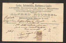 "BRIOUDE (43) MECANICIEN CONSTRUCTEUR ""Alfred ROUSSEL"" en 1908"