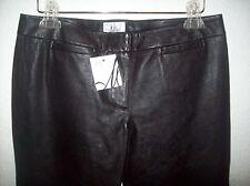 Milly New York Black stretch Leather  Pants sz 8 NEW