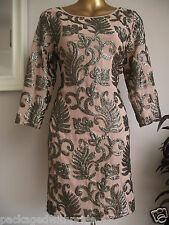 MONSOON ALLY MINK NUDE GOLD EMBELLISHED TUNIC DRESS WEDDING CRUISE PROM PARTY 10