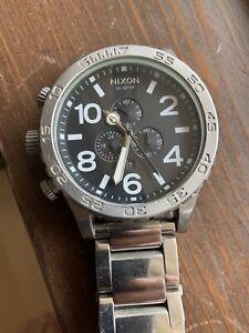 Nixon 51-30 Stainless Chronograph Watch Men's