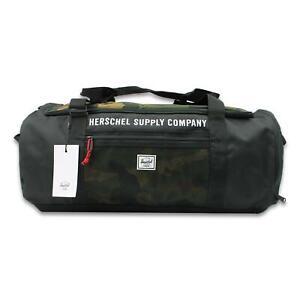 Herschel Athletics Sutton Carryall 50L Duffle Bag Black Camo One Size New